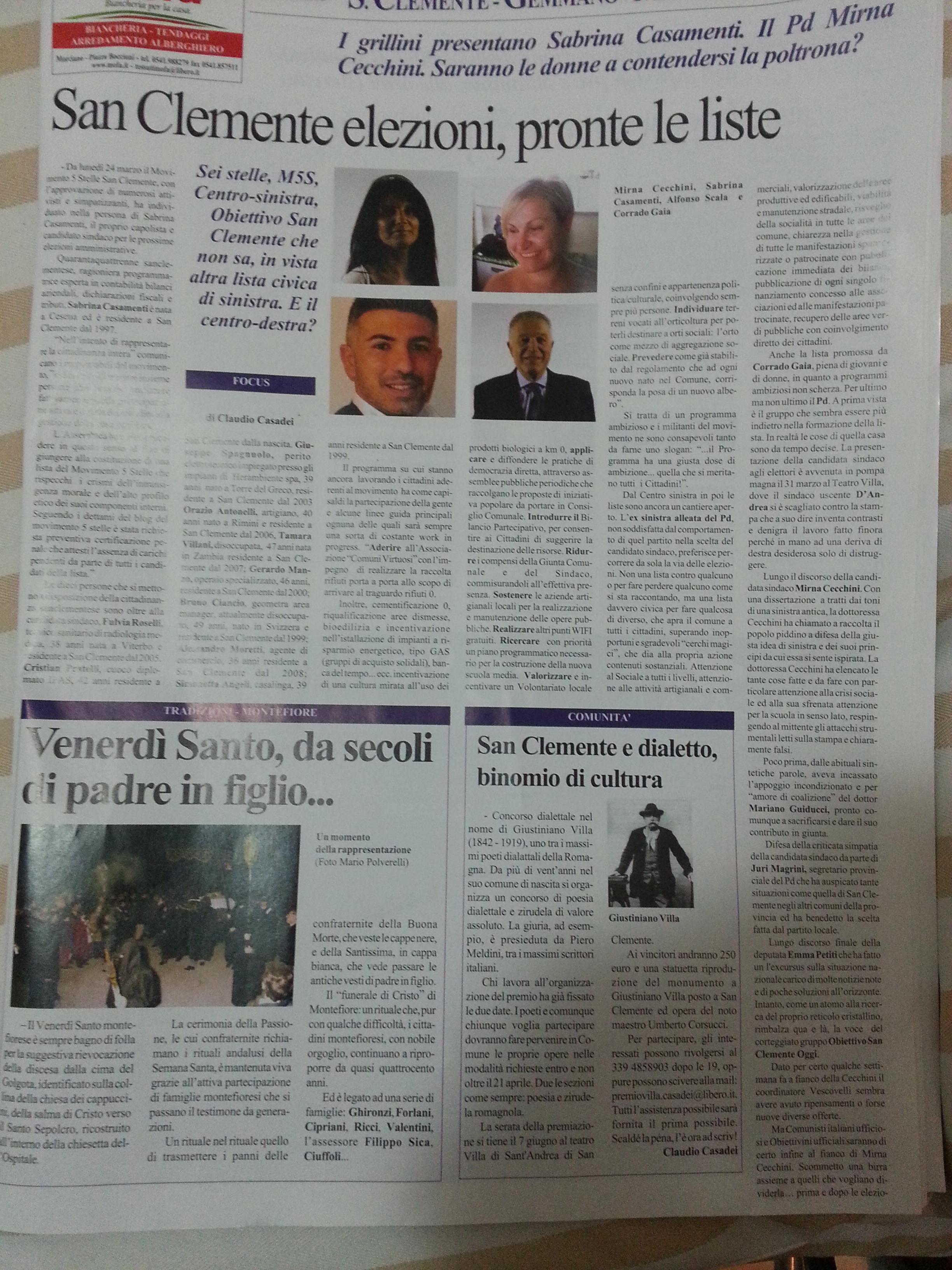Giornale la Piazza Aprile 2014_Pag_1