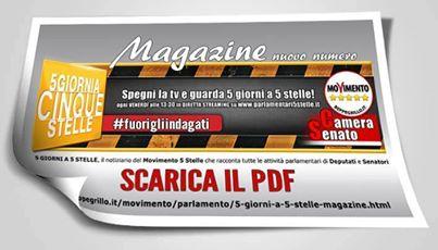 Numero 14 magazine 5giornia5stelle movimento for Numero parlamentari 5 stelle