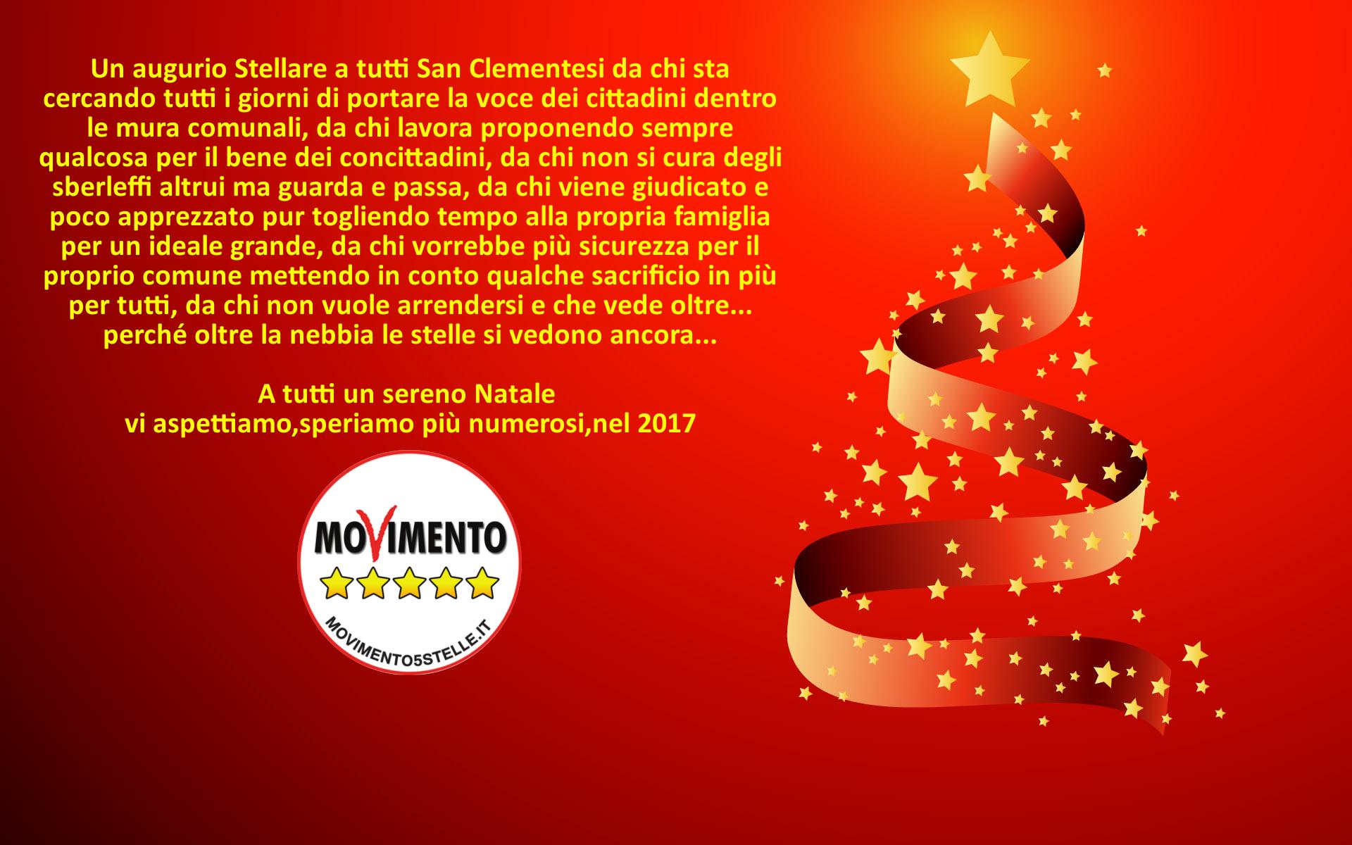 Immagini Natale Movimento.Auguri Di Buon Natale Dal M5s Di San Clemente Movimento 5 Stelle